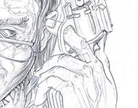 "Illustration ""Schattengewächse 7 - Black Jack"""