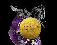 Wedding invitation for Iris and Ron