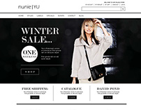 Nunie Yu website design
