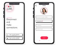 Offline professional networking app