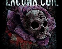 Lacuna Coil - Rose Skull T-shirt