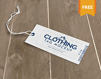 Highly Customizable Clothing Tag Mockup