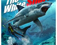"""Digital illustration """"The Great White Shark""""."""