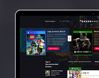 Game portal & shop, web
