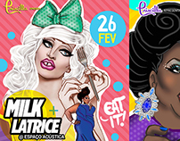Drag Queen Party Illustration Posters - Milk + Latrice