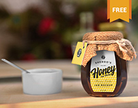 Free Awesome Honey Jar Mockup
