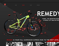 TREK ENDURO bicycle promo-site