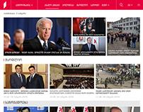 Redesign of 1TV Website (1TV.GE)