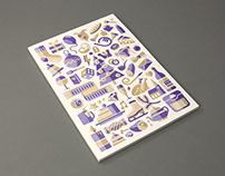 Christmas card 2016, risoprint, personal work