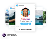 Instagram Profile Promo| After Effects Template