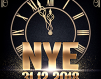 Nye Countdown Party Flyer Template
