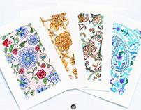 Textile floral pattern set #2