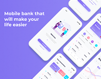 Mobile bank app - UI/UX design