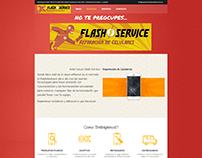 FLASH SERVICE - DISEÑO WEB - DISEÑO DE LOGOTIPO