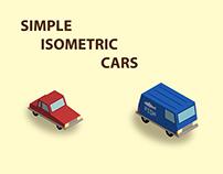 Isometric simple cars in adobe illustrator