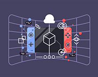Simple flat illustrations for web