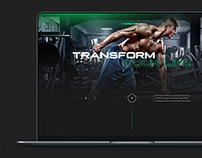 Website Landing Design for Fitness Centers
