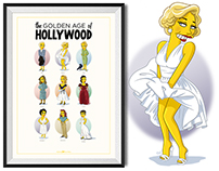 The Golden Age of Hollywood Simpsonized