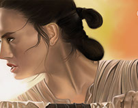 Rey painted in Adobe Photoshop CC