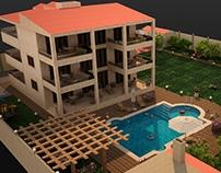 Villa 3 floors in Yafour + 2000 meters Garden design
