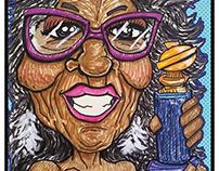 Oprah Winfrey 2018 Caricature
