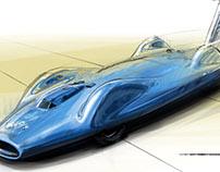 Bluebird - Heritage landspeed vehicle - Art Render
