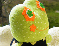 Free Shipping Handmade Frog Sock Stuffed Toy