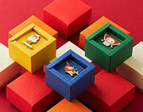 中田郁美藝術作品徽章|包裝設計