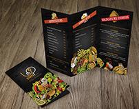 "Menu Design for ""Upstate"" Fusion Restaurant"