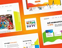 Corporate website for kids edutainment center