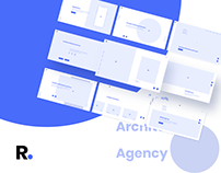 Ra Wireframe Kit for Creative Industry Website