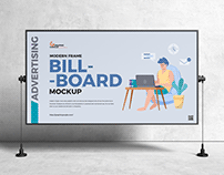 Free Advertising Billboard Mockup