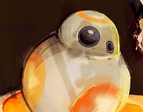ILLUSTRATION: Fanart Star Wars - Rey and BB-8