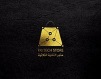 شعار متجر التقنية الثلاثية