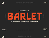 FREE Barlet Font Family
