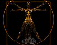 La proporzione del corpo del demone secondo Vitruvio
