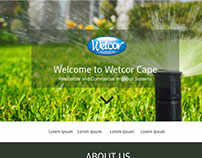 Wetcor Cape Website Mockups