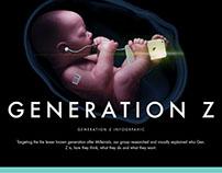 Generation Z infographic banner