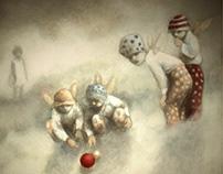 Angels playing bowls