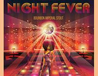Raduga Night Fever Beer Label