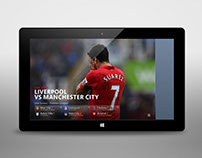 Windows 8 Bing Sport App Live Content