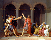 Jacques-Louis David- Oath of the Horatii