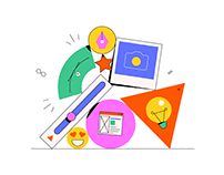 Adobe CC for Teams · Homepage illustrations
