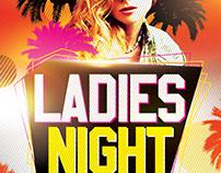 Ladies Nights PSD Flyer Template