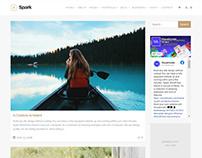 Spark WordPress Theme - Blog Sidebar Right