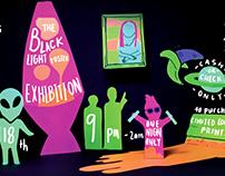 Black Light Art Show Poster | Poster Design