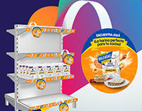 Diseño de material POP para cadenas de supermercados