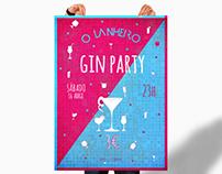 O Lanheiro Café-Bar Gin Party / Poster