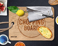 Chopping Board Engraved Wood 1 - Mockup
