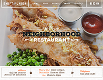 Swift and Union Restaurant Website Design & Development